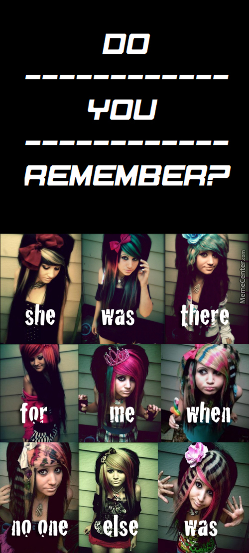 Some People Went Through This Phase, Teh Emo Phase Or Wearing Black Clothing Phase