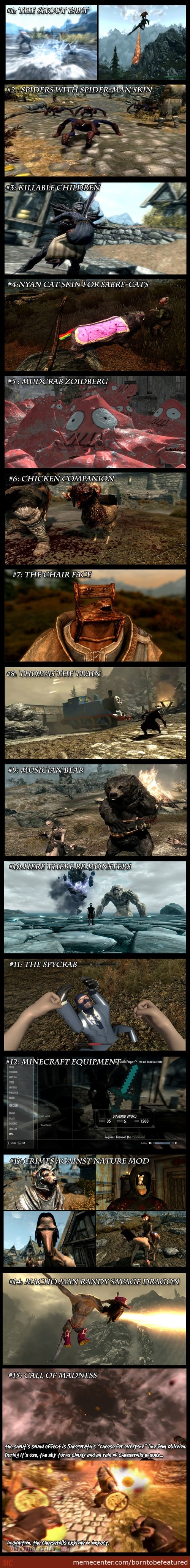 Some Really Crazy-Over The Top Skyrim Mods.