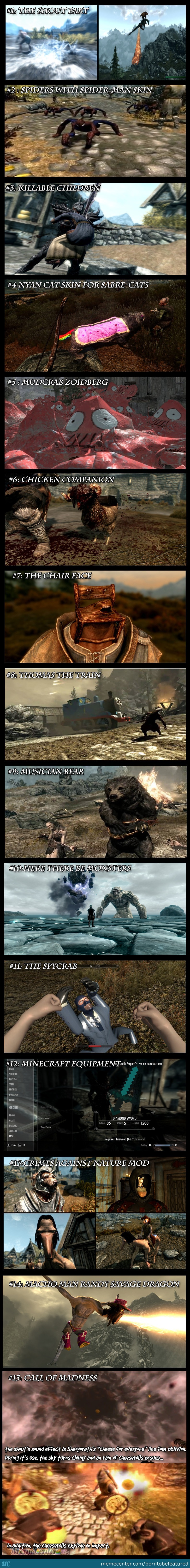 Some Really Crazy-Over The Top Skyrim Mods  by borntobefeatured
