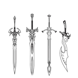 sword coloring pages - photo#43