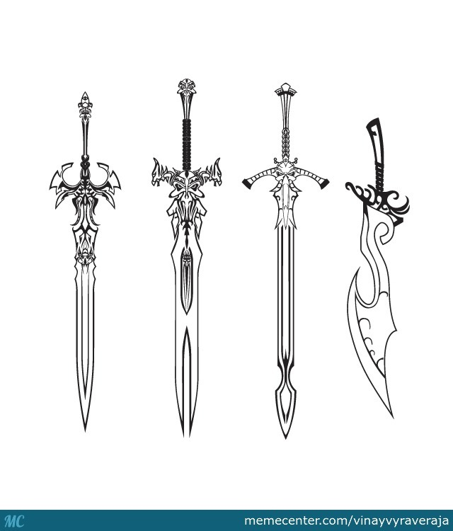 Some Swords For You O Try To Color First Time Using