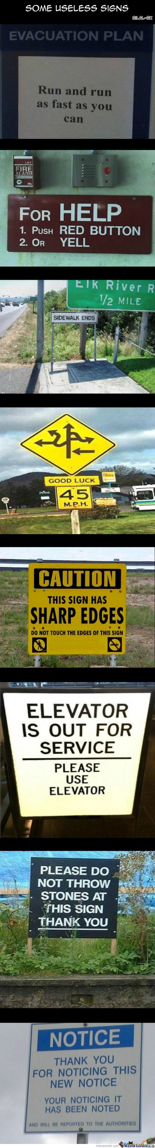 Some Useless Signs