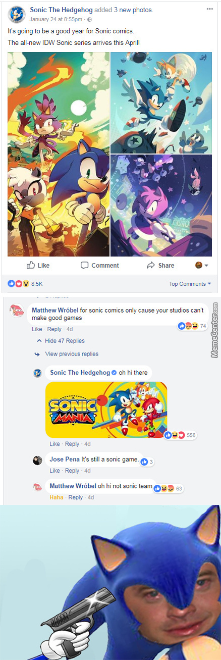 Sonic The Hedgehog, One Of The Best Roasters Got Roasted, Damn