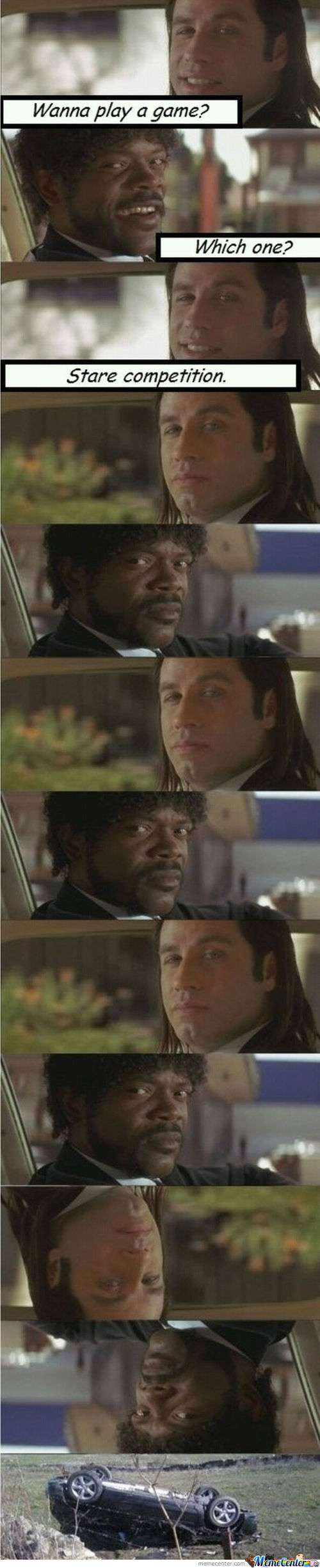 Pulp Fiction Stare Competition