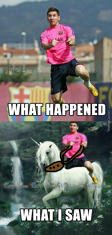 Sorry Messi, We All Know That Pink Always Matches With Unicorn.(Come On People Of Mc You Can Do Better Than Me)