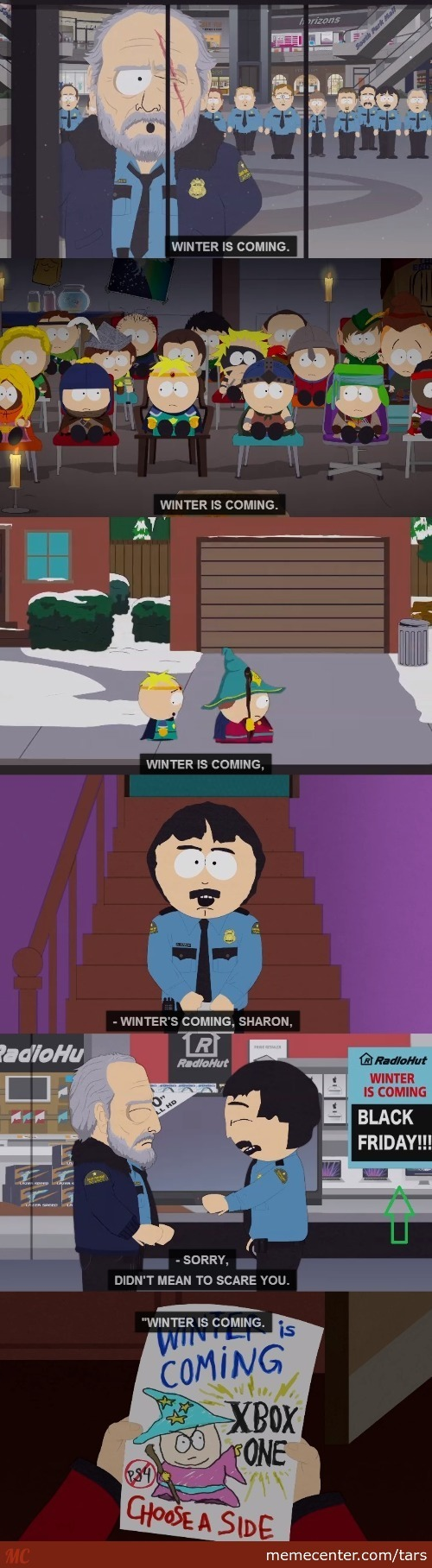 South Park Goes Game Of Thrones