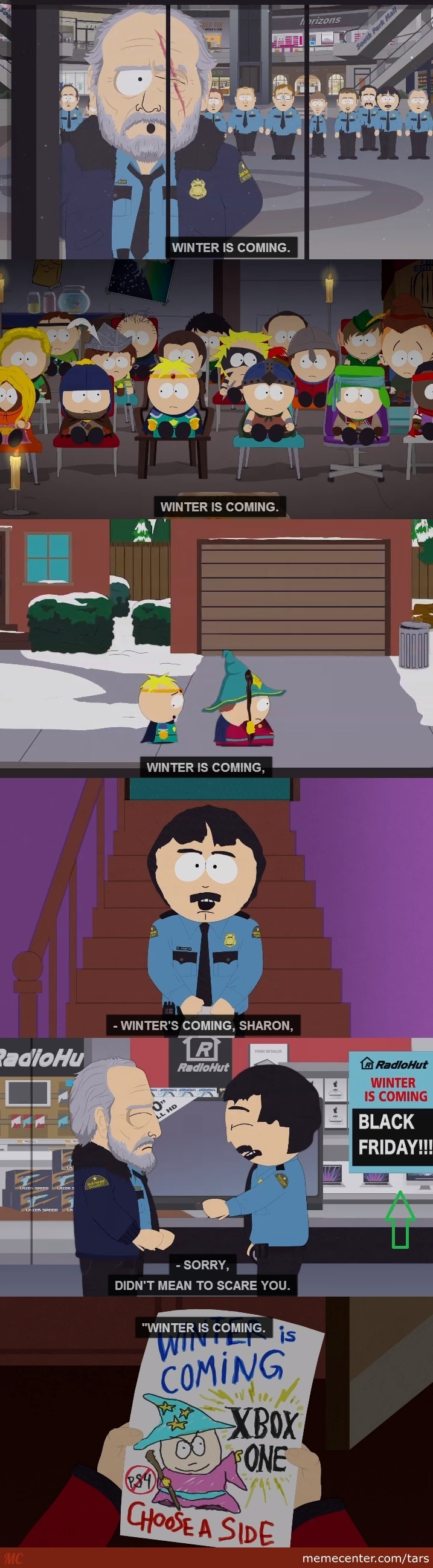 south park goes game of thrones_o_2476541 south park goes game of thrones by tars meme center