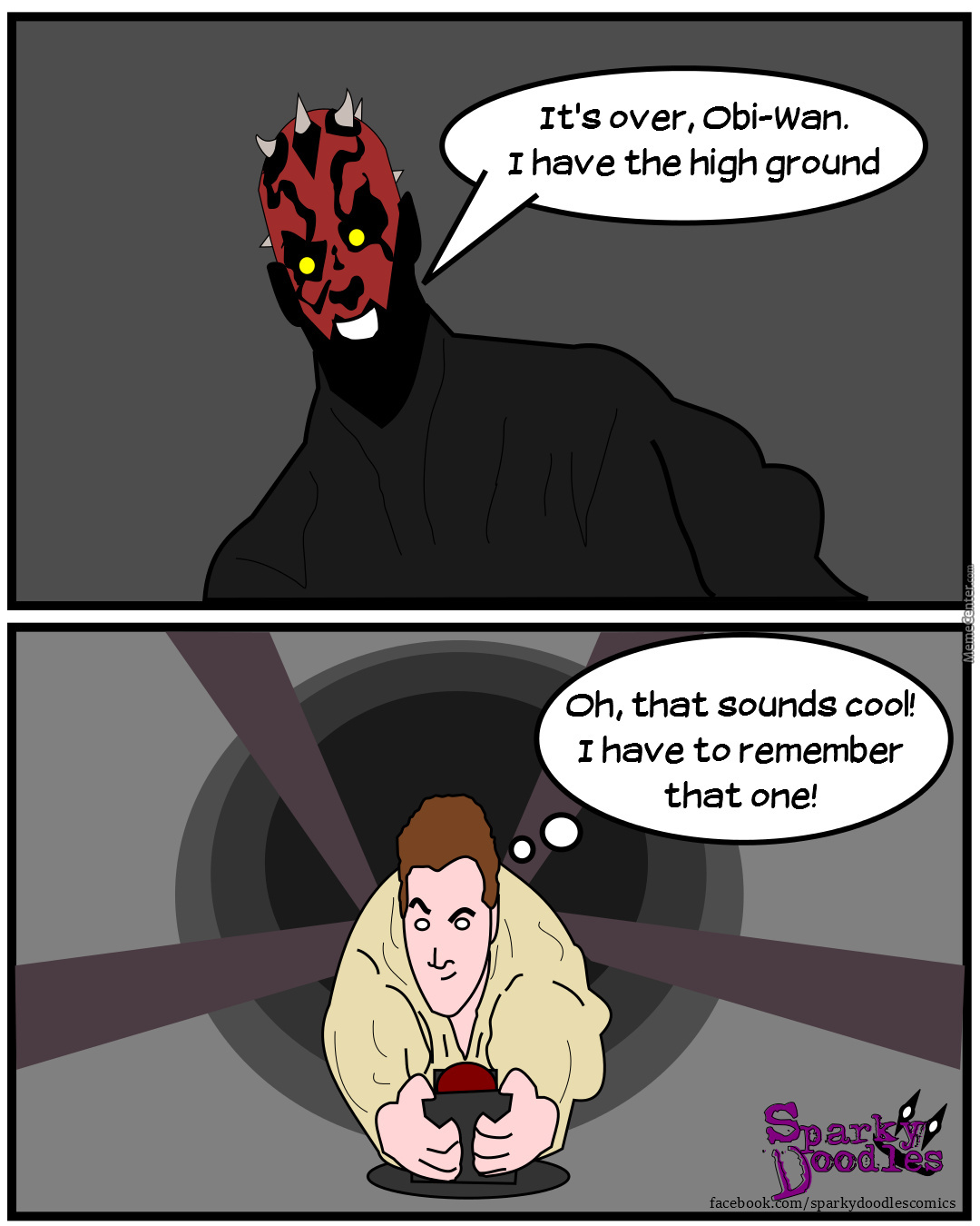 Sparky doodles origins of the high ground