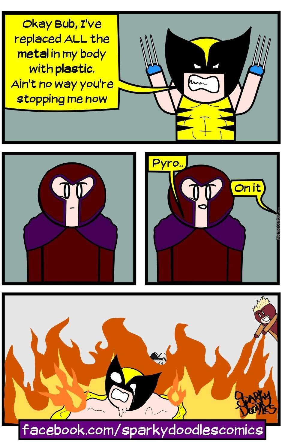 Sparky Doodles: Wolvie's Bad Day