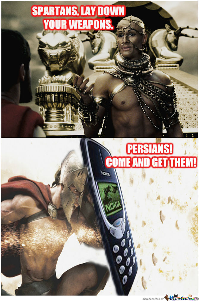 Spartans + Nokia= Unstoppable Warriors