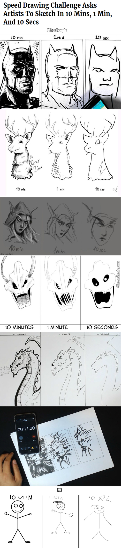 Speed Drawing Challenge :v (Long Post&sauce; In The Comment)