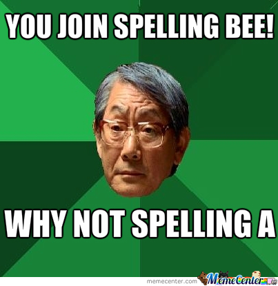 Image result for spelling meme