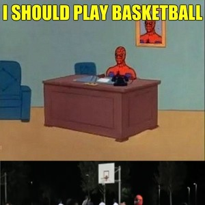 Spider Man Plays Basketball By Acevesgame Meme Center
