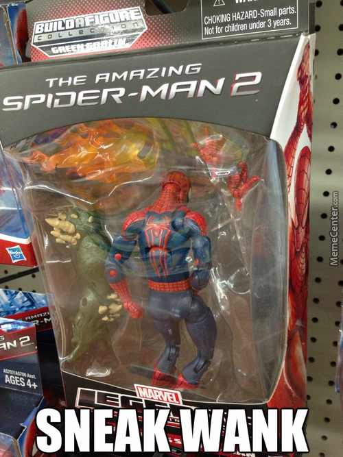 Spider-Man Spider-Man Spider-Man, Wanks Whenever He Can!