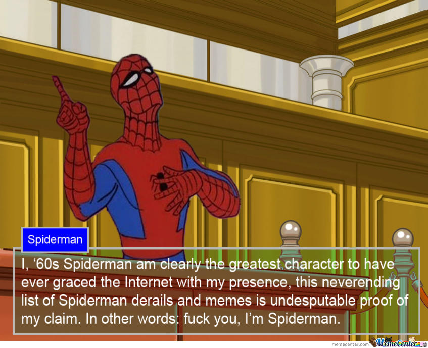 Spiderman Ace Attorney By Atarix Meme Center