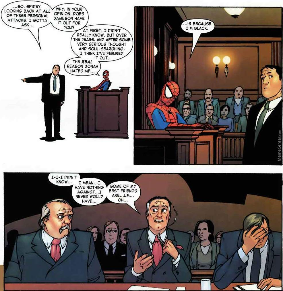 spiderman in court by xing meme center