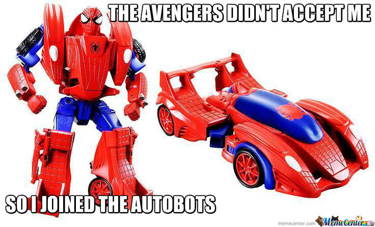 Spiderman Joined The Autobots