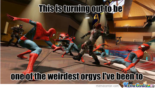 Spidey Goes To A Weird Orgy