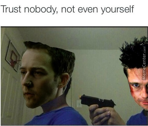 *spoilers* Fight Club *spoilers* (Ye Ye Edward's  Hair Is Weird, Icouldn't Find Another Png Photo.)
