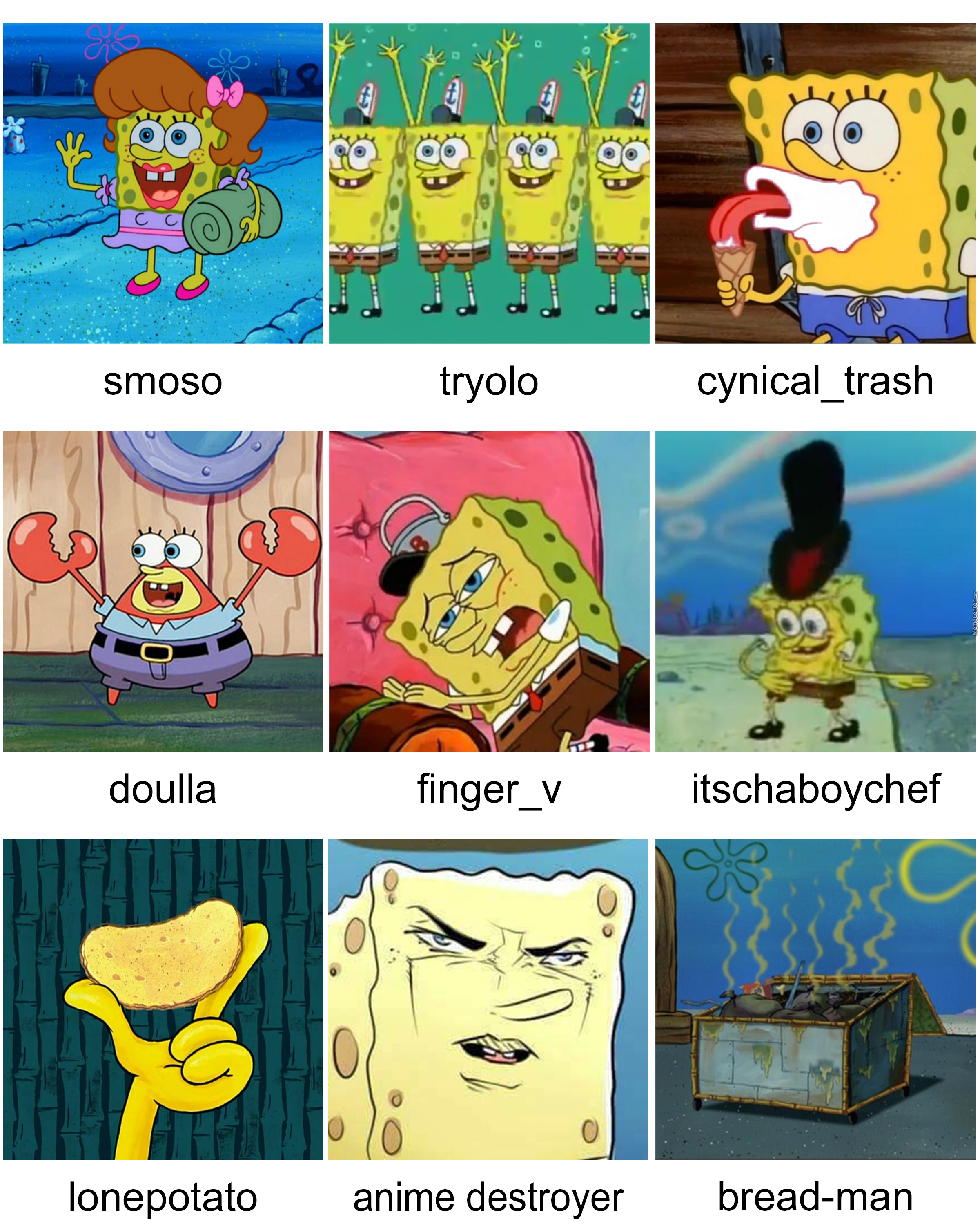 Spongebob created memecenter