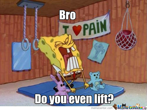 Spongebob Do You Even Lift?