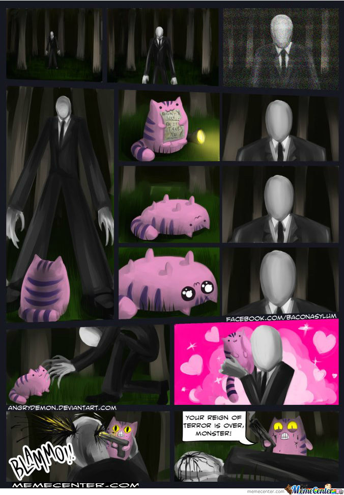 Spy Cat Meet Slender Man