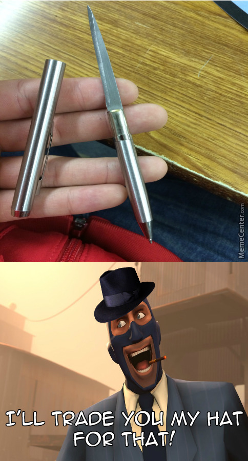 Spy Want's Your Secret Knife Pen