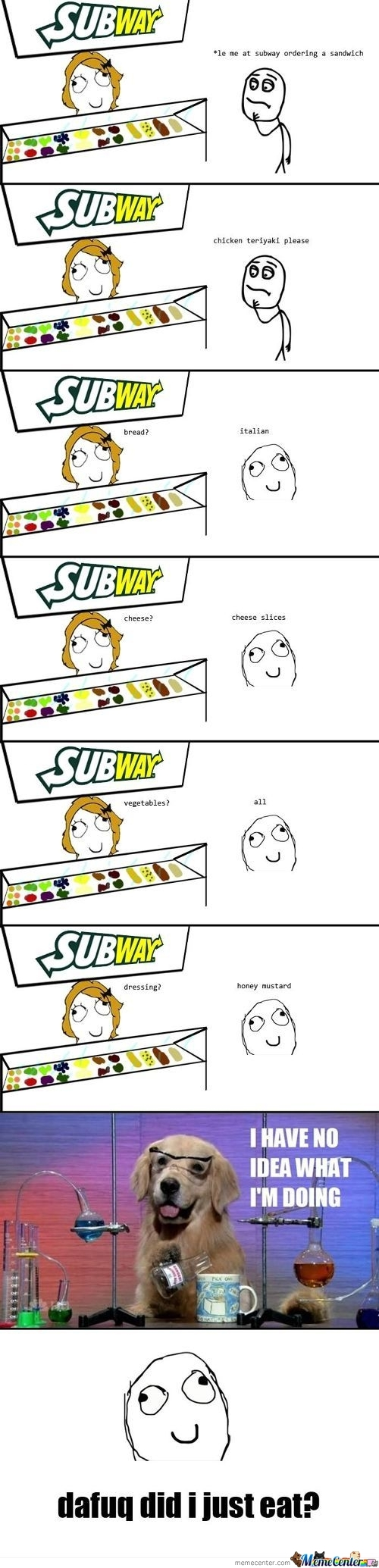 Srsly, Every Time At Subway.