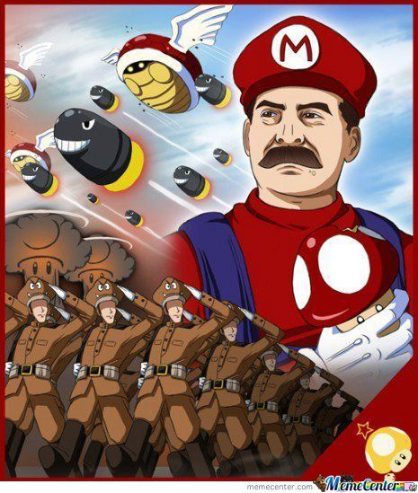 Stalin In Mario Style