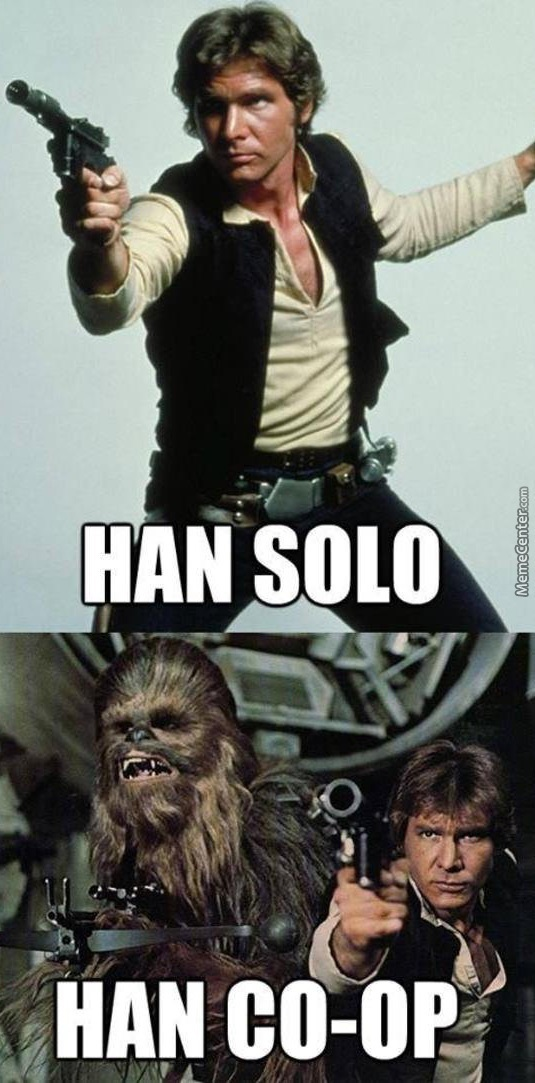 Image result for han and chewie meme