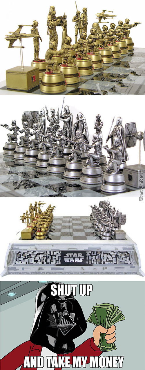 Star Wars Style Chess Pieces
