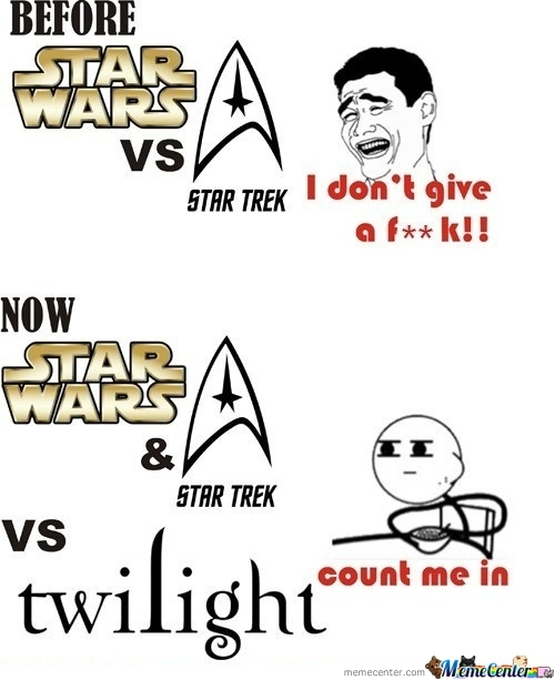 Star Wars Vs. Star Trek Vs. Twilight