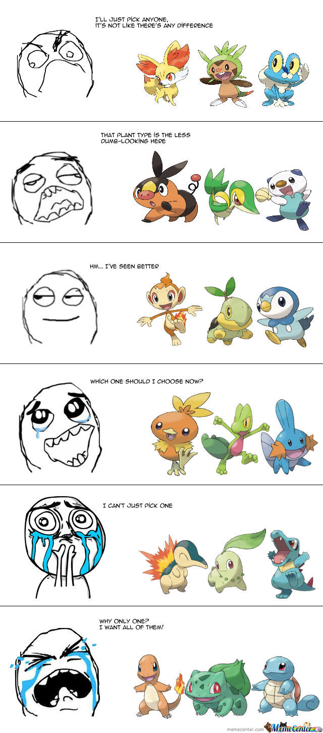 Starter Pokemon Over The Generations 1st Is The Best By Yamiryuuzero Meme Center