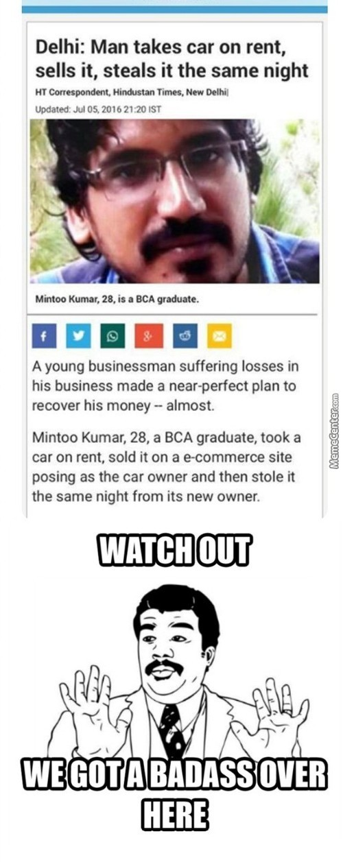 Stealing From Someone Who Bought It Illegally Makes Him Superhero