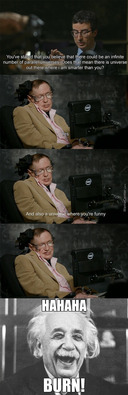 Stephen Hawking Has A Great Sense Of Humor