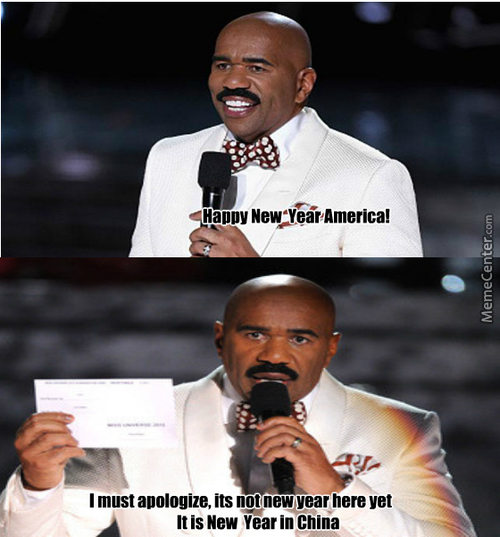 Steve Harvey New Year Oops