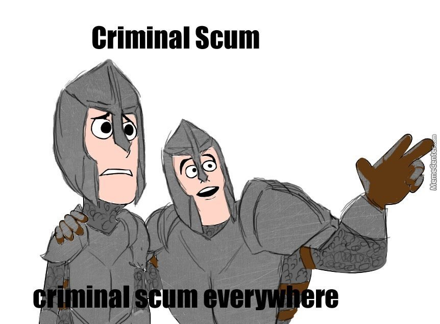Stop Right There Criminal Scum You Violated The Law By Uriel