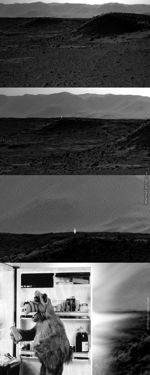 Strange Light Emanating From Mars