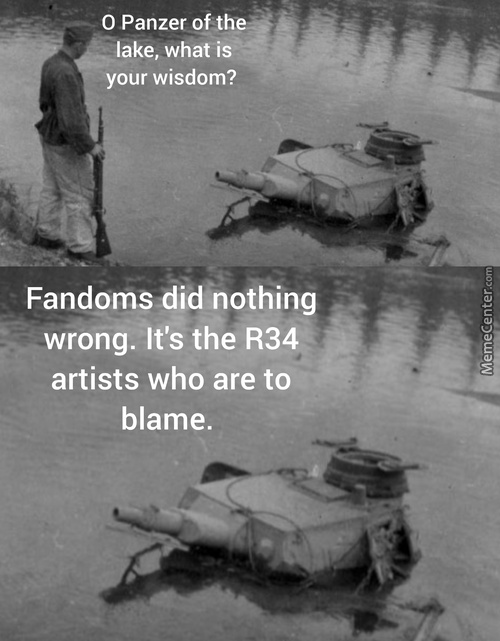Stupid R34 Artists. Giving Fandoms The Wrong Impression.