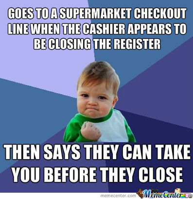 Success Kid At The Supermarket