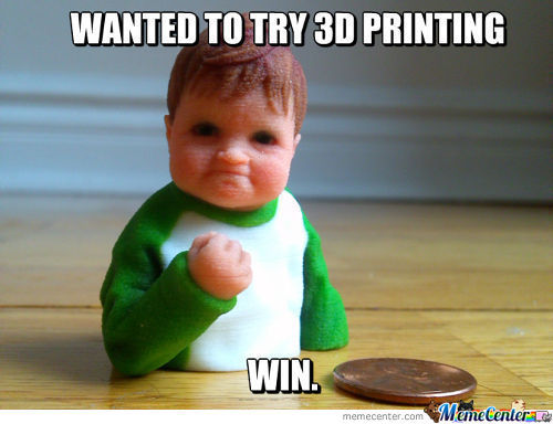 Success Kid In 3D Printing