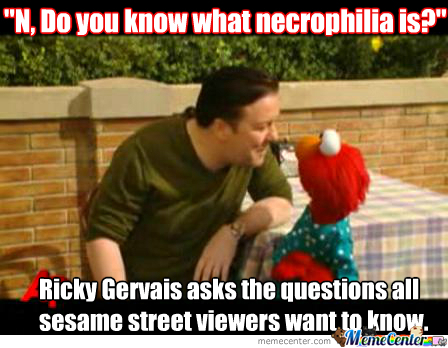 Suddenly Remembered This For Some Reason And Wondered If I Could Start A Sesame Street Necrophilia Trend?