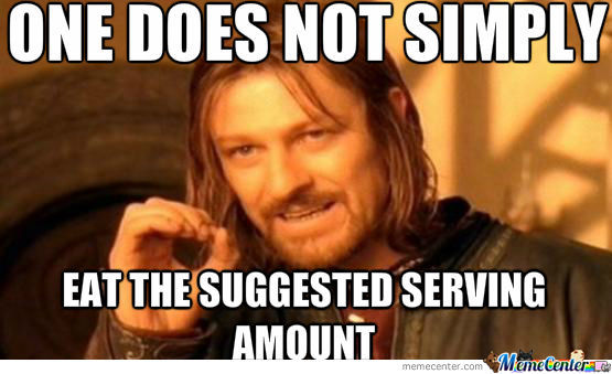Suggested Serving Amount Lol