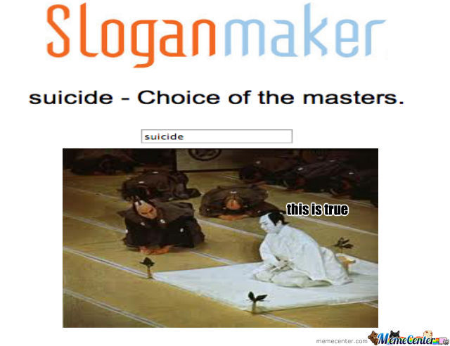 Suicide The Masters Do It (Do Not Attempt)