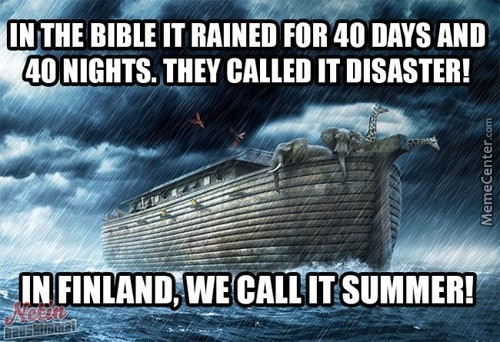 Summer In Finland Is Disaster