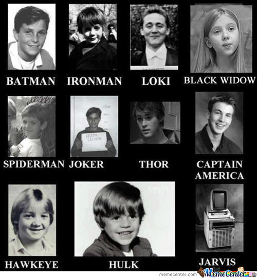 Superheros When They Were Young