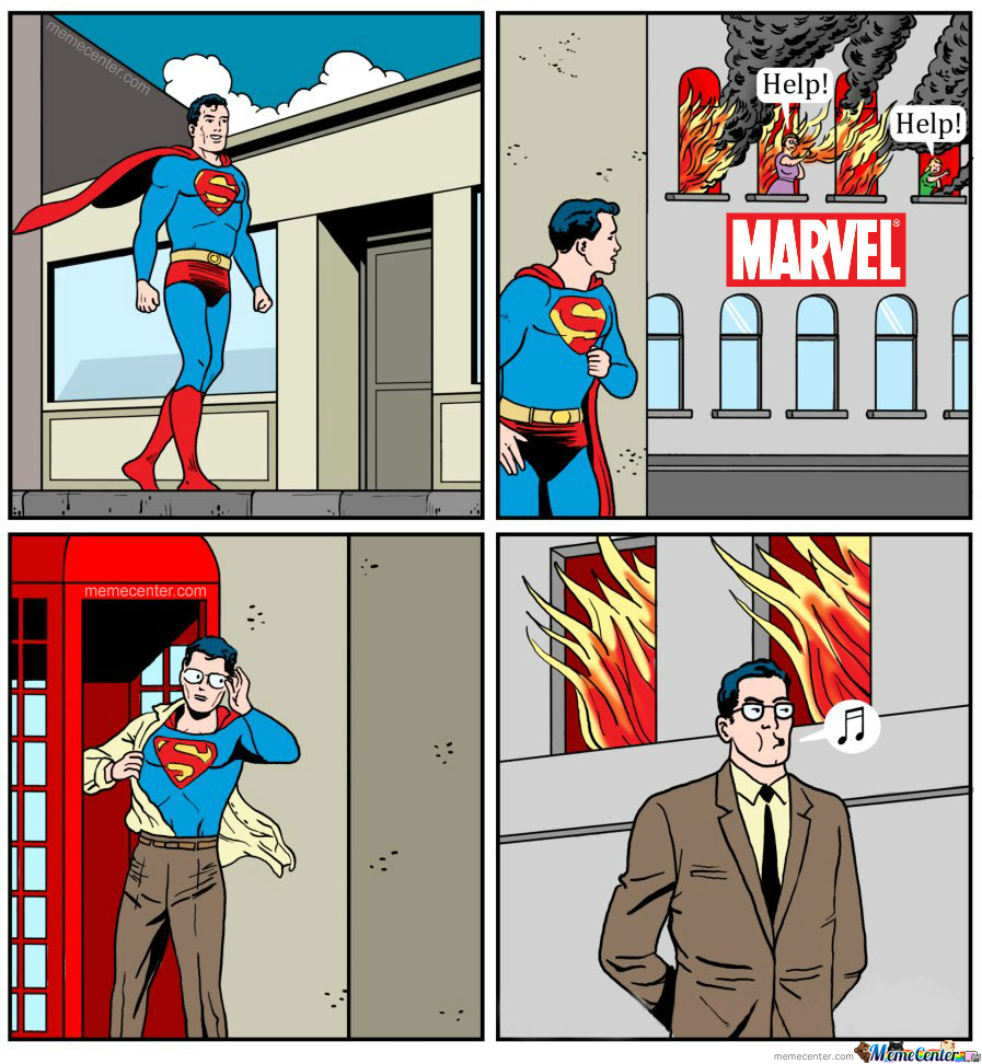 Superman Hates Marvel