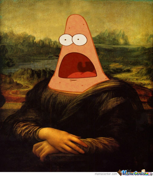 Surprised Mona Lisa