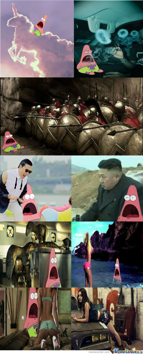 Surprised Patrick Compilation