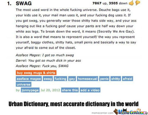 Swag According To Urban Dictionary